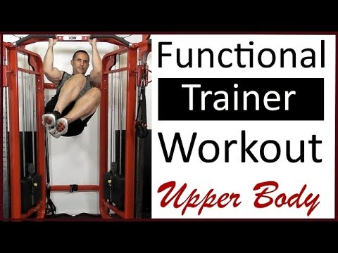Functional Trainer, Cable Crossover Machine Upper Body Workout
