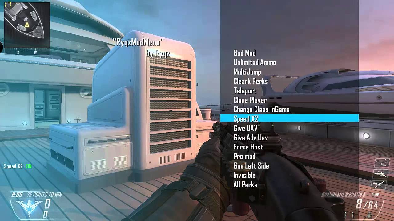 Black Ops 2 HOW TO INSTALL MOD MENU FOR MULTIPLAYER AND ZOMBIES