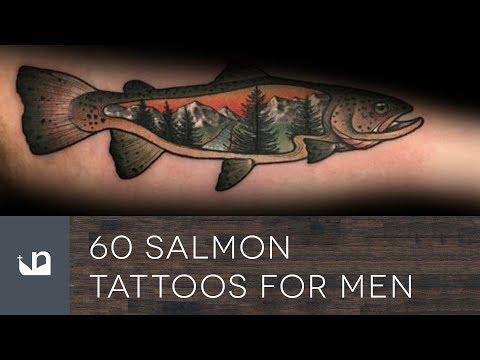 60 Salmon Tattoos For Men