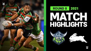 Raiders v Rabbitohs Match Highlights   Round 8, 2021   Telstra Premiership   NRL