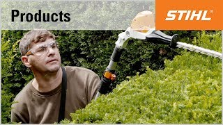 STIHL HLA 85 long-reach hedge trimmer with telescopic shaft