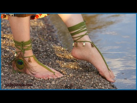Crochet Tutorial Tribal Barefoot Sandals