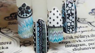 урок дизайна ногтей для начинающих. Зимний дизайн ногтей  Вязанные ногти  Имитация вязки на ногтях