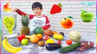 Float or Sink Challenge for Kids with Fruits and Vegetables!