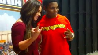 Meeting The Usos & Kaitlyn | WWE Raw & MCW Pro Wrestling
