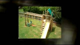 Mighty Swings Playsets Childrens Custom Wooden Backyard Swing Set