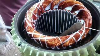 54 slot 5.5 Hp 3-phase Induction motor rewinding motor