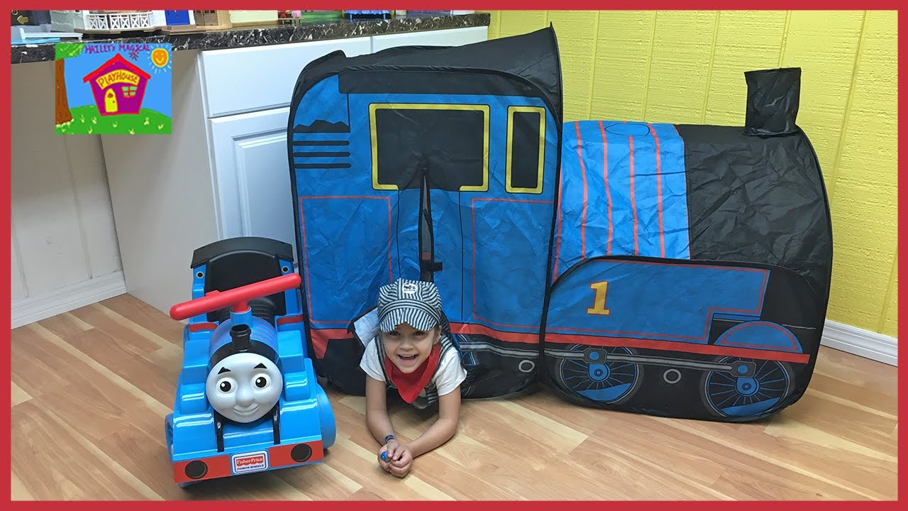 Big Thomas the Tank Surprise Toys Tent with Track Sets u0026 Thomas Trains Inside!  sc 1 st  YouTube & Big Thomas the Tank Surprise Toys Tent with Track Sets u0026 Thomas ...