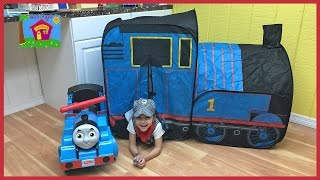 Big Thomas Toys Surprise Tent w/ Trackmaster Toy Trains & Ride On Car!