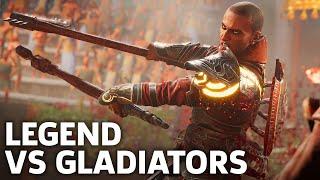 Legendary Armor Isu Versus The Gladiator Arena In Assassin's Creed Origins - Gameplay