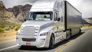 Repeat youtube video Daimler's Self Driving Truck Nevada Worlds First Licensed Autonomous Freightliner Inspiration CARJAM
