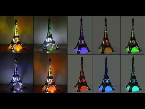 Paris Eiffel Tower Flashing Lights Statue Figurine
