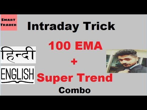 Intraday Trick : 100 EMA +Super Trend combo by Smart Trader (English +Hindi)