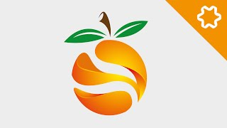 Illustrator Logo Design Tutorial / Orange 3D Logo Design / How to Design 3D Logo Design