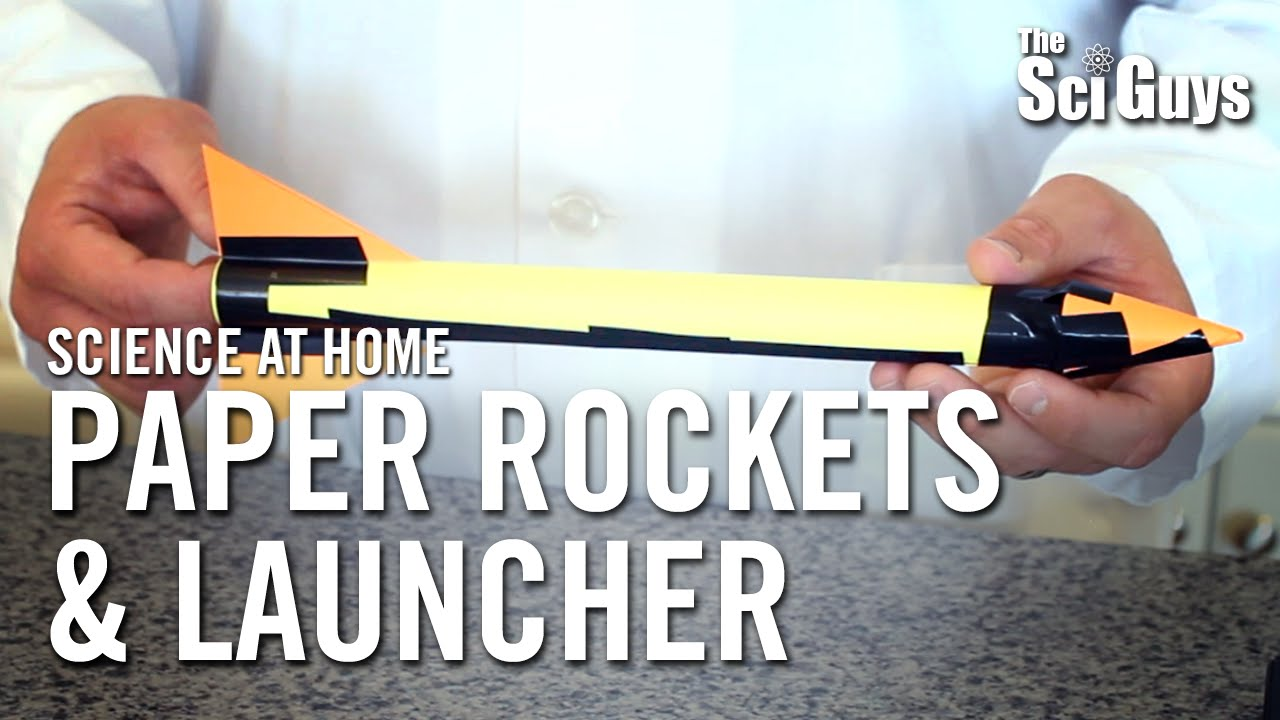 Download Paper Rockets and Launcher - The Sci Guys: Science at Home