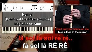 Human Dont Put The Blame On Me Educacao Musical Jose Galvao