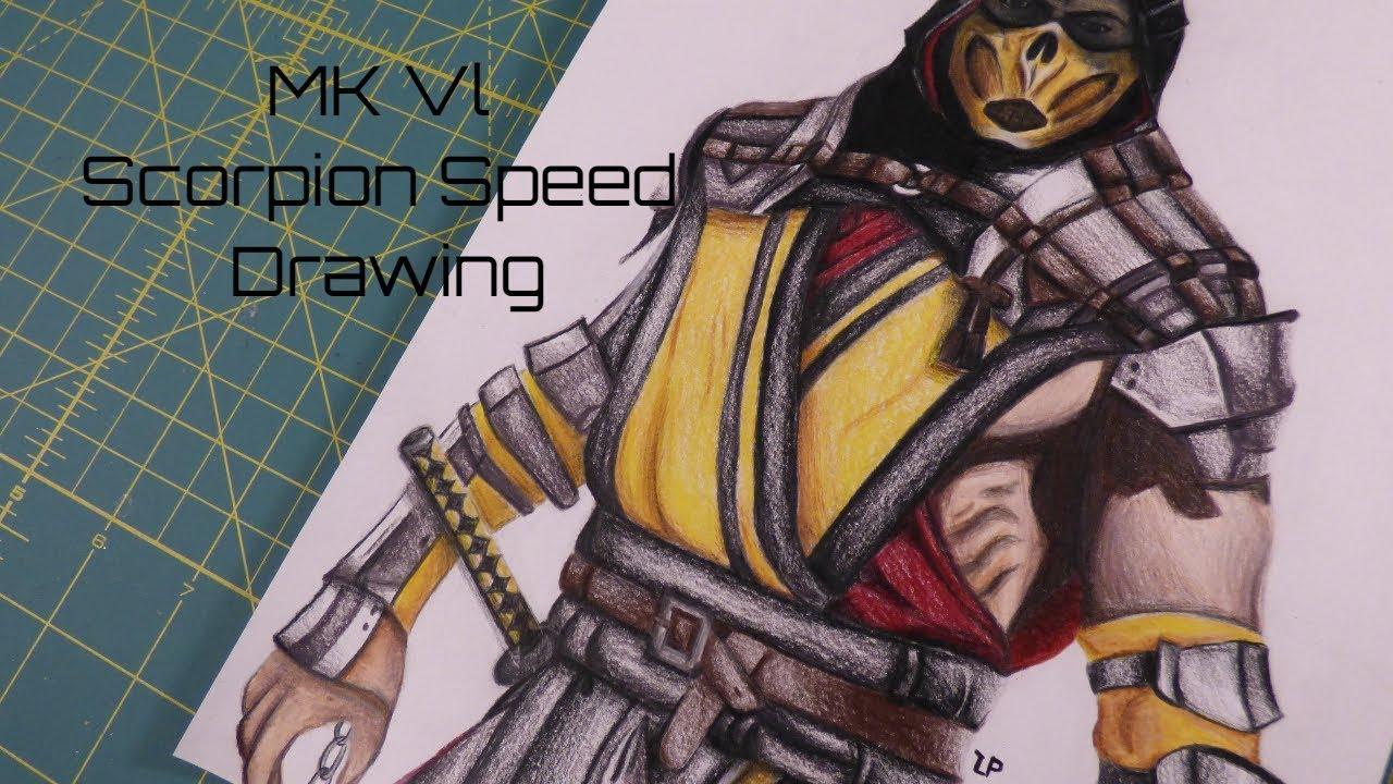 Mortal Kombat Scorpion Speed Draw Youtube