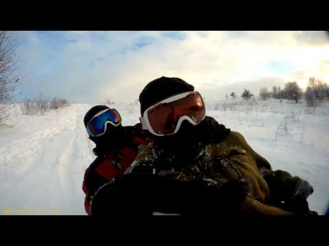 BAC MyVideo. Winter vacation Drive a sleigh from the Big Mountain. @2017.01.15@. \(9_9)/\(6_6)/. =)
