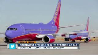 Southwest Airlines 72-hour sale offers round trips for under $100