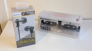 Brainwavz Omega IEM Noise Isolating Earphones & Truss Unboxing
