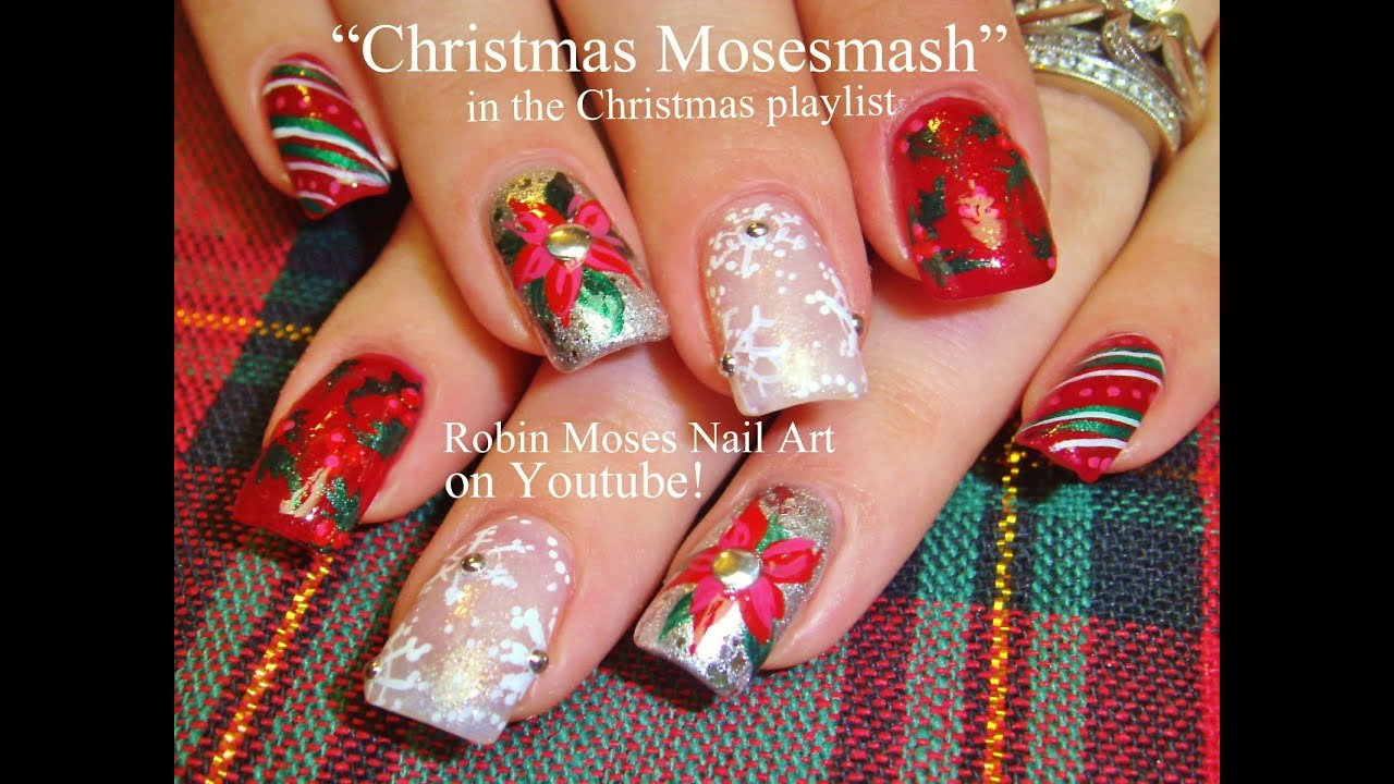 Best christmas nails mix and match fun xmas nails design best christmas nails mix and match fun xmas nails design tutorial youtube prinsesfo Image collections
