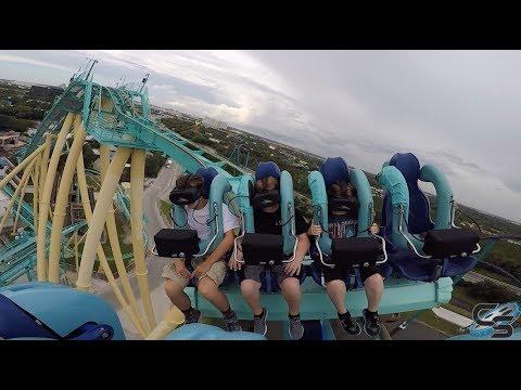 Kraken Unleashed VR Review at SeaWorld Orlando: Coaster Vlog #157
