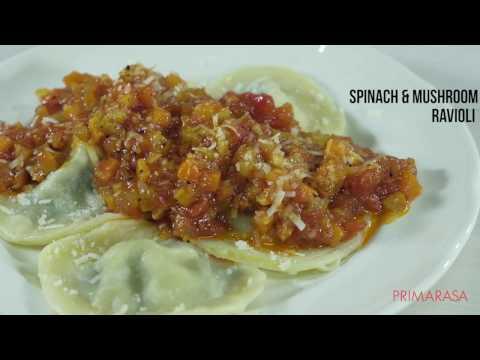 Spinach & Mushroom Ravioli