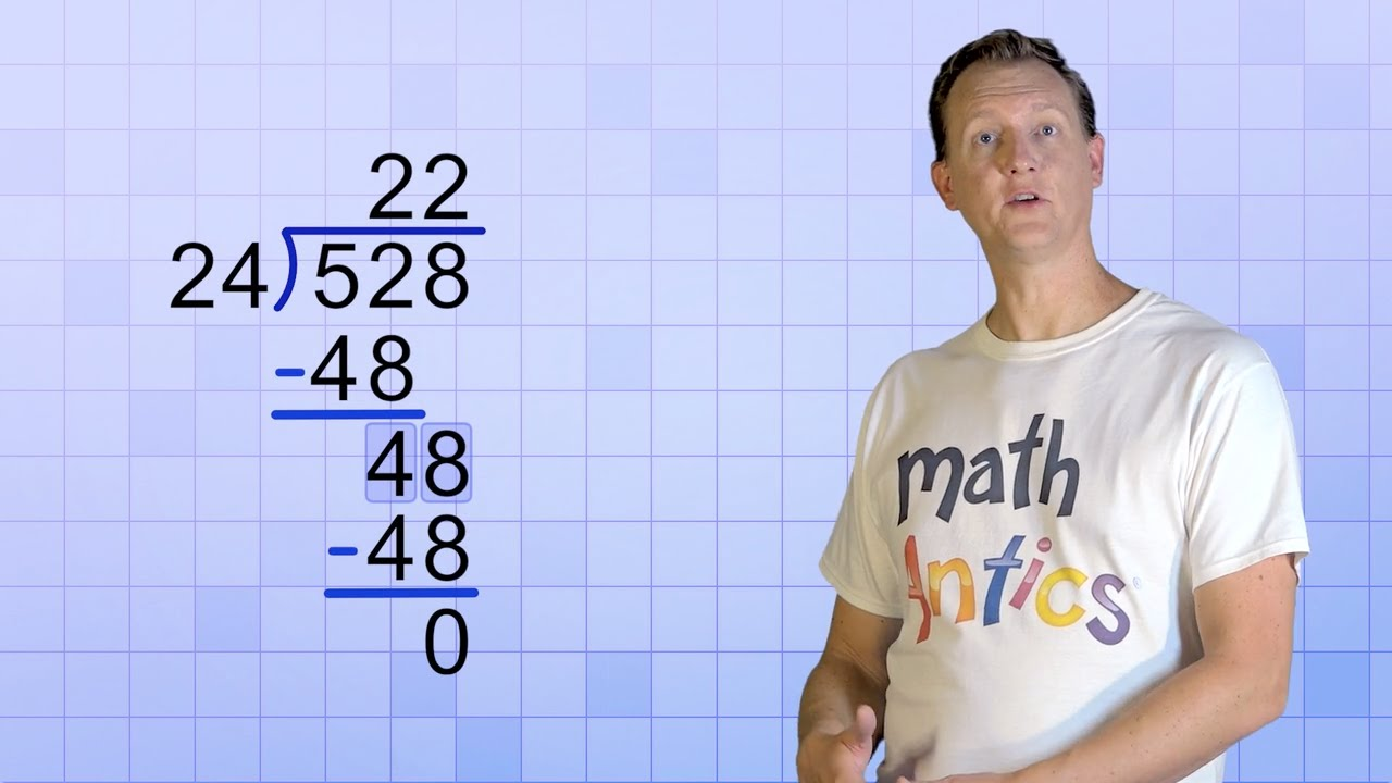 Worksheet Long Division 2 Digit Divisor math antics long division with 2 digit divisors youtube divisors