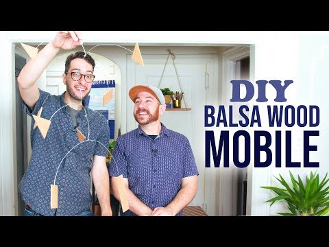 DIY Balsa Wood Hanging Mobile - HGTV Handmade