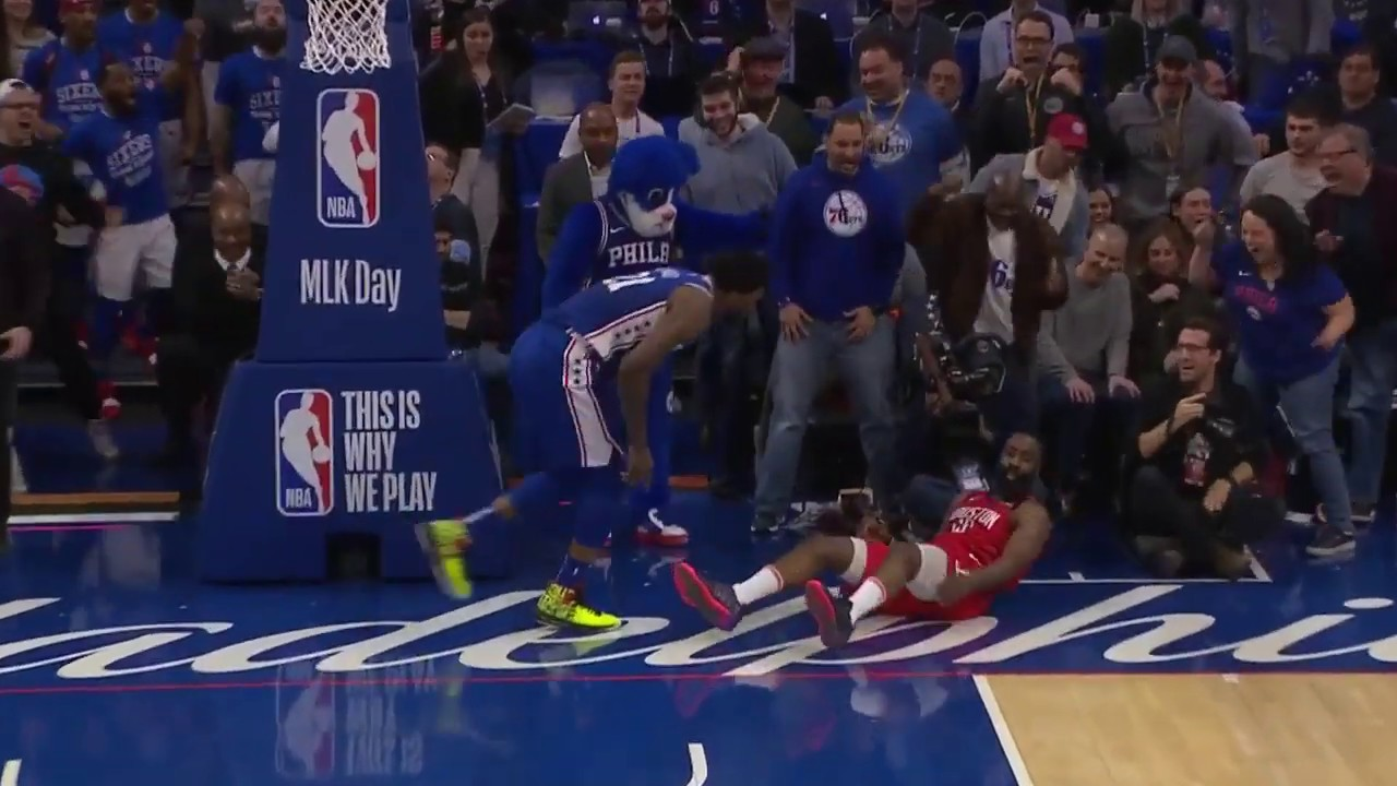 Joel Embiid Humbles James Harden With Chasedown Block In Philly