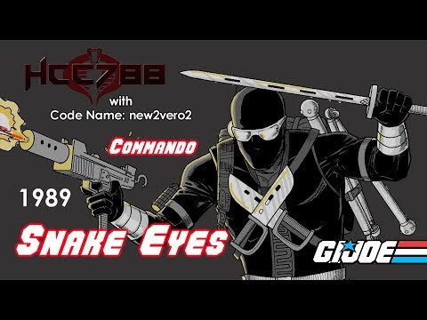 HCC788 - 1989 SNAKE EYES V3 - With Code Name: New2vero2 - Vintage G.I. Joe Toy Review!