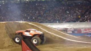 Larry Quick double backflip attemp at the Pontiac Silverdome on 4/17/2010