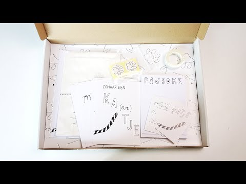 Unboxing stationery box februari 2018: katten • Post & Papier