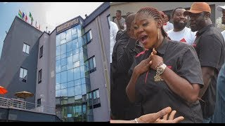 Pregnant Mercy Johnson & Husband Builds D biggest Hotel in Abule-Egba worth over N500Million [See]