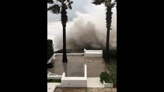 Storm Gloria Brings Powerful Winds And Giant Waves Close To Beach House in Spain