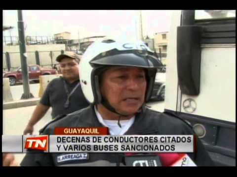 Decenas de conductores citados y varios buses sancionados