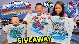 SKYLANDERS SUPERCHARGERS GIVEAWAY from Skylander Boy and Girl (Custom T-Shirts)
