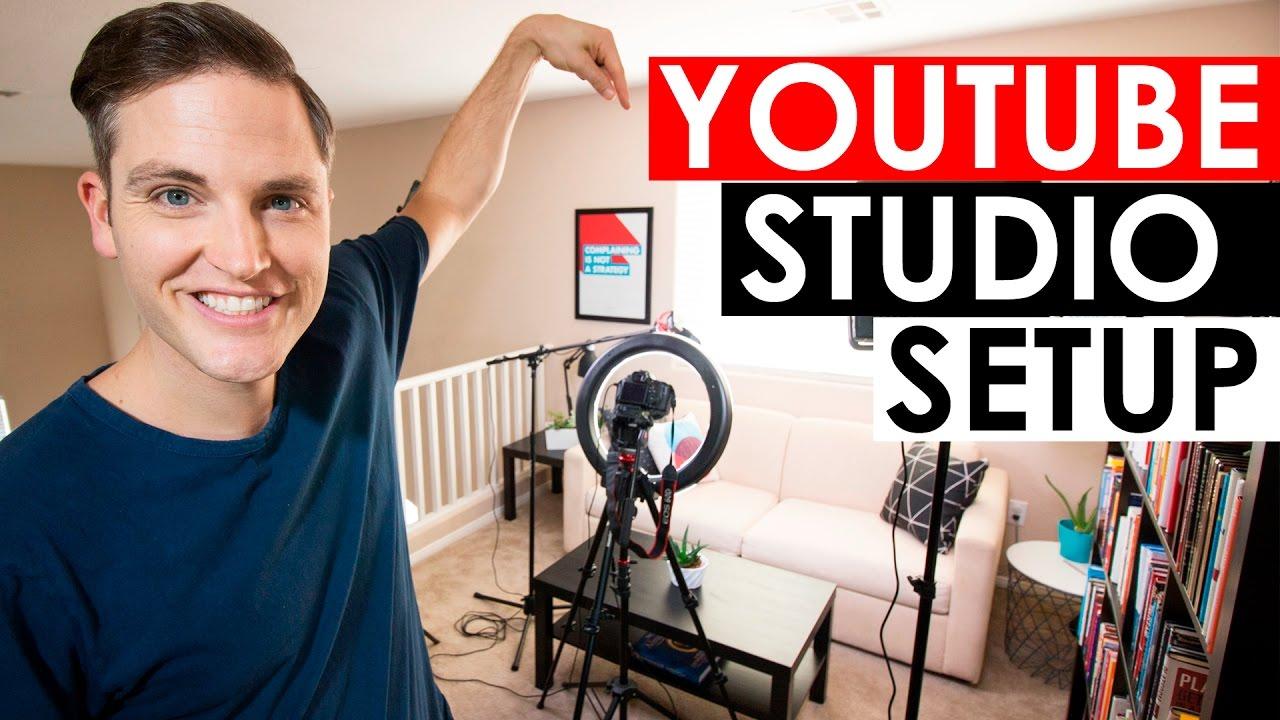 Youtube Studio Setup Home Video Studio Setup And Tour Youtube