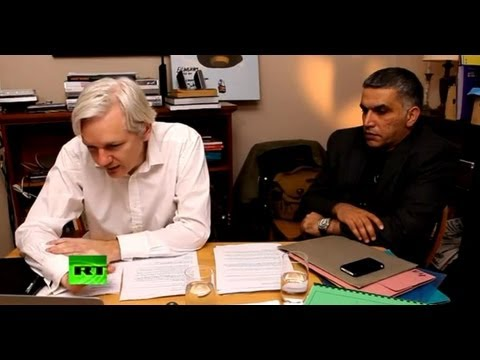 Julian Assange's The World Tomorrow: Nabeel Rajab & Alaa Abd El-Fattah (E4)