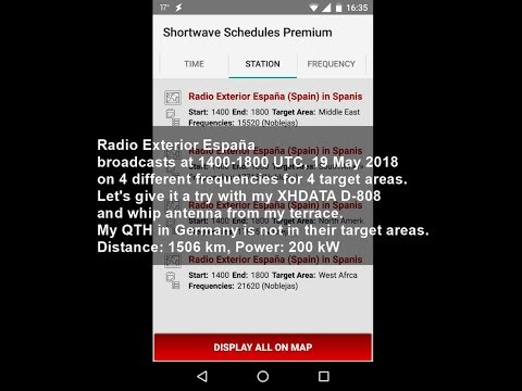 Radio Exterior España on shortwave with XHDATA D-808