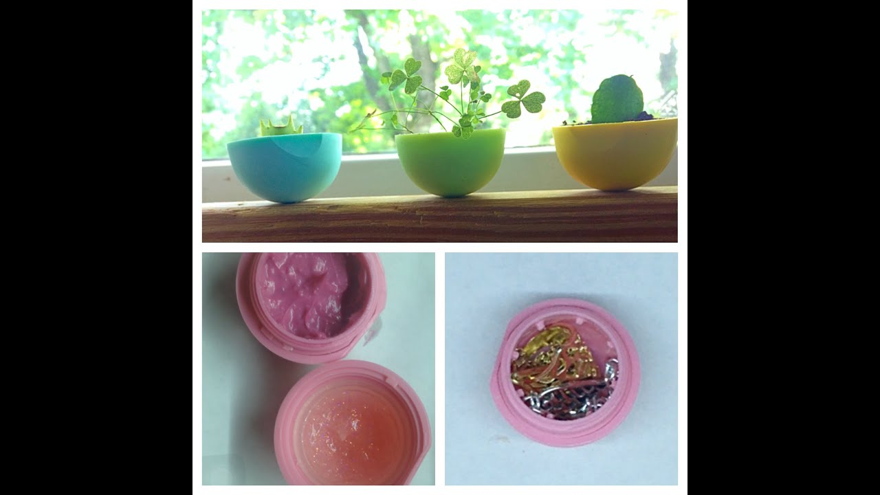 Diy 3 Ways To Reuse Your Eos Lip Balm Container Youtube