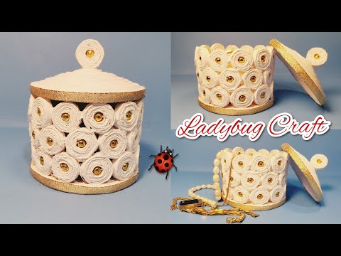 Paper craft.  How to make a basket from paper. Jewelry box. Newspaper craft.