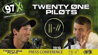 twenty one pilots 2019 Press Conference with 97X