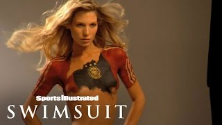 SOCCER WAGS Sarah Brandner Bodypainting | Sports Illustrated Swimsuit
