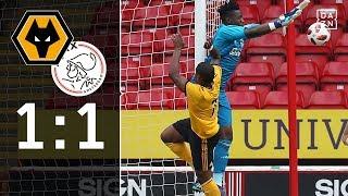 Remis gegen niederländischen Rekordmeister: Wolverhampton Wanderers - Ajax 1:1 | Highlights | DAZN