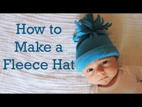 How to Make a Baby Fleece Hat: Part 3 in Hat Series: DIY - YouTube