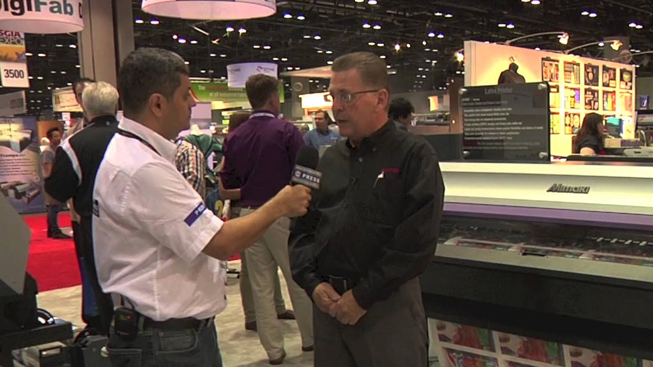 Interview with Paul McGovern, Marketing & Promotions Manager for Mimaki at  SGIA 2013