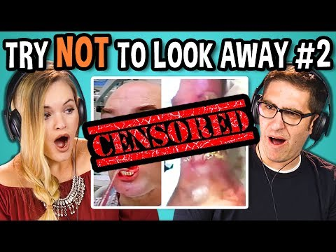 ADULTS REACT TO TRY NOT TO LOOK AWAY CHALLENGE #2