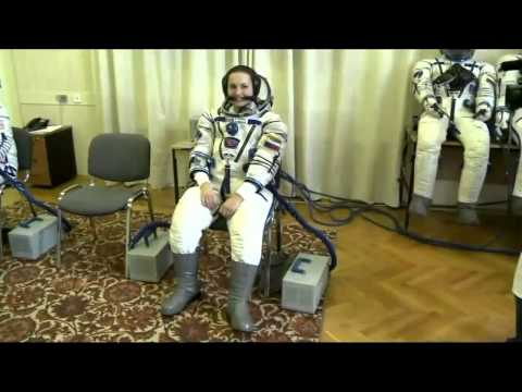 ISS Expedition 39/40 Crew Activities in Baikonur Kazakhstan