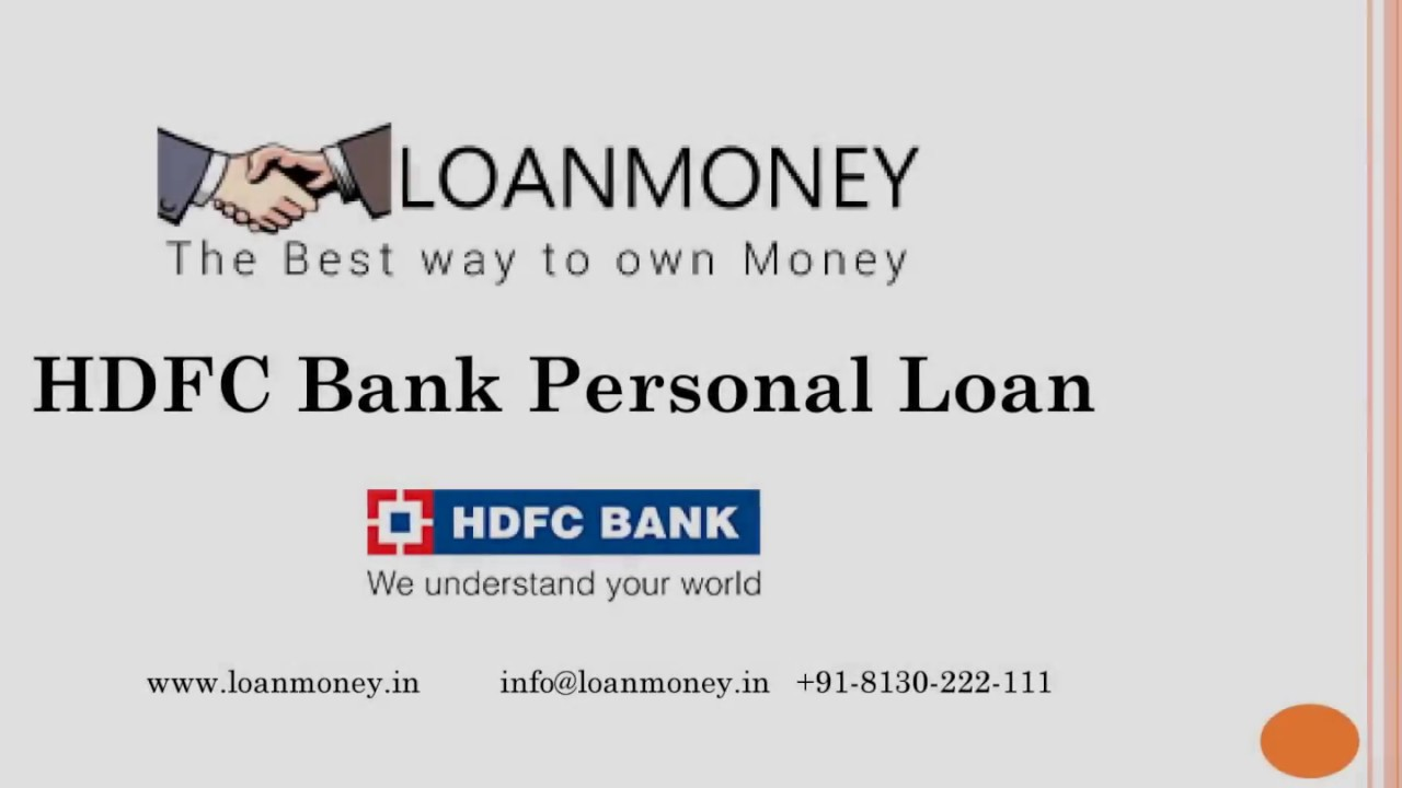 HDFC Bank Personal Loan - Features & Benefit | Personal ...